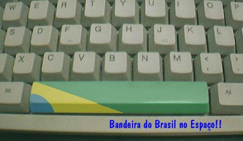 A bandeira do Brasil no espaço
